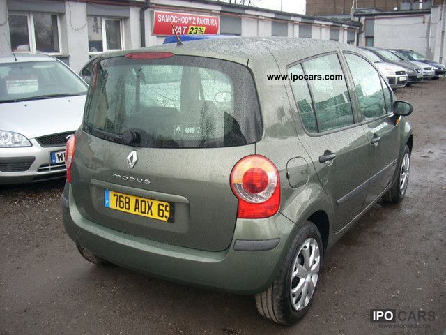 2005 renault modus 1 4 16v air car photo and specs. Black Bedroom Furniture Sets. Home Design Ideas