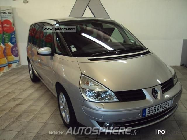 2007 renault dci175 fap espace 2 0 privilege car photo and specs. Black Bedroom Furniture Sets. Home Design Ideas