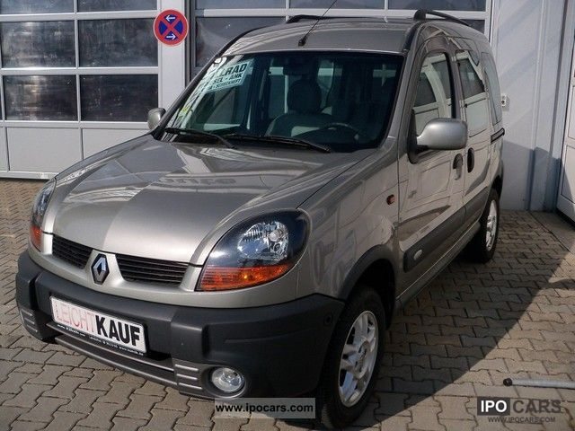 2004 renault kangoo 4x4 1 9 dci checkbook partial leather towbar car photo and specs. Black Bedroom Furniture Sets. Home Design Ideas