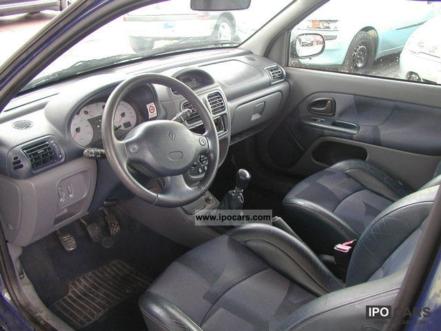 2001 renault clio 1 6 16v sport 1 hand air leather euro 3 car photo and specs. Black Bedroom Furniture Sets. Home Design Ideas