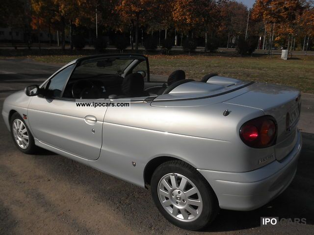 2002 renault megane cabriolet 1 6 expression car photo and specs. Black Bedroom Furniture Sets. Home Design Ideas