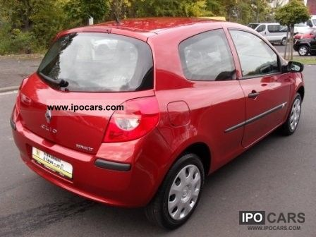 2007 renault clio authentique 1 2 16v 3 door car photo and specs. Black Bedroom Furniture Sets. Home Design Ideas