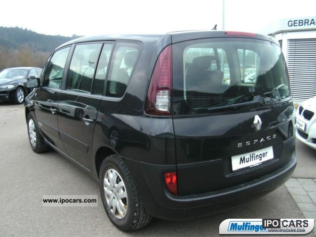 2007 renault espace expression 2 0 d climate control car photo and specs. Black Bedroom Furniture Sets. Home Design Ideas