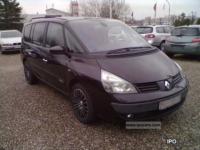 2005 renault grand espace 3 0 dci full equipment car photo and specs. Black Bedroom Furniture Sets. Home Design Ideas