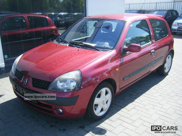 2001 renault clio dynamique 1 6 16v air alu car photo and specs. Black Bedroom Furniture Sets. Home Design Ideas