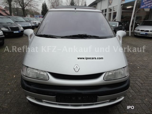 2000 renault espace 2 2 dt rt climate alloy wheels car photo and specs. Black Bedroom Furniture Sets. Home Design Ideas