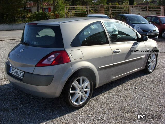 2004 renault m gane coup dynamique 1 9 dci 120 sport car photo and specs. Black Bedroom Furniture Sets. Home Design Ideas