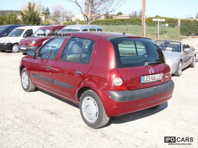 2001 renault clio 1 5 dci 65 authentique car photo and specs. Black Bedroom Furniture Sets. Home Design Ideas