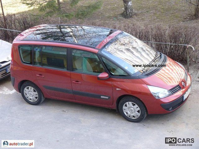 2004 renault espace car photo and specs. Black Bedroom Furniture Sets. Home Design Ideas