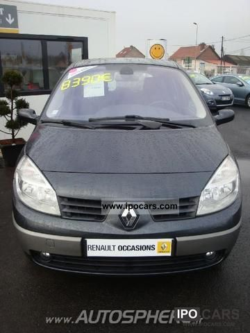 2006 renault scenic 1 9 dynamique luxe dci120 car photo and specs. Black Bedroom Furniture Sets. Home Design Ideas