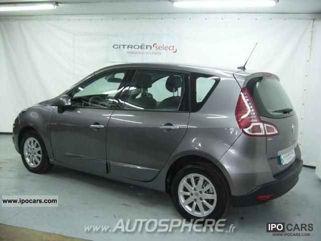 2010 renault fap scenic 1 9 dci130 privil ge euro5 car photo and specs. Black Bedroom Furniture Sets. Home Design Ideas