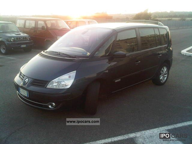 2006 renault espace 2 0 dci 175 fap initial cv car photo and specs. Black Bedroom Furniture Sets. Home Design Ideas