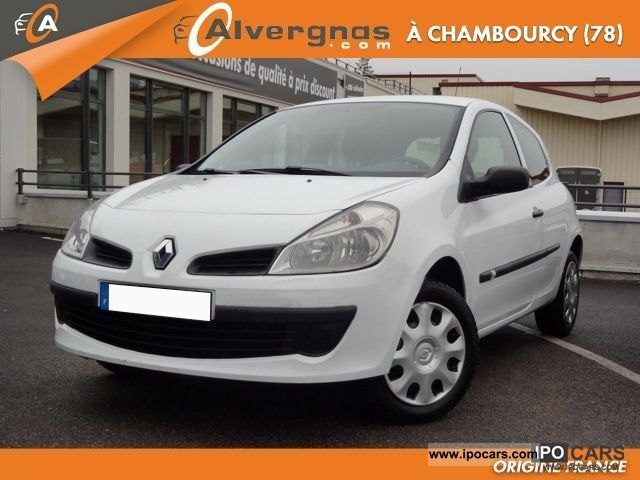 2007 renault clio iii 1 5 dci 70 societe air 3p car photo and specs. Black Bedroom Furniture Sets. Home Design Ideas