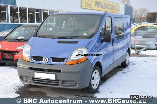 2006 renault trafic 1 9 dci 100 car photo and specs. Black Bedroom Furniture Sets. Home Design Ideas