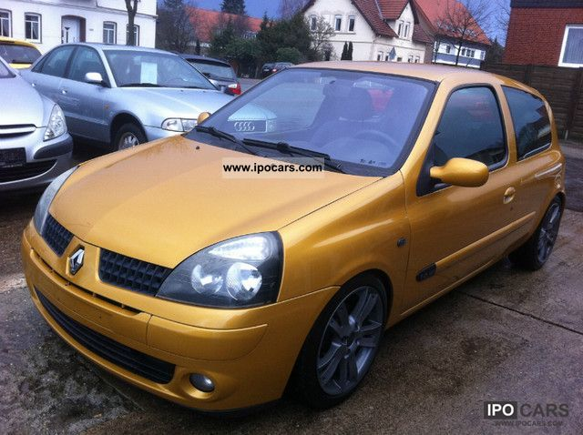 2001 renault clio 1 6 16v sport tuv new car photo and specs. Black Bedroom Furniture Sets. Home Design Ideas