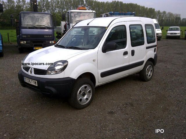 2007 renault kangoo 4x4 1.6 16v air +, net exports € 5800 - car
