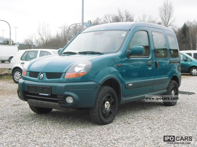 2004 renault kangoo 4x4 1 6 16v approval before 03 2014 car photo and specs. Black Bedroom Furniture Sets. Home Design Ideas