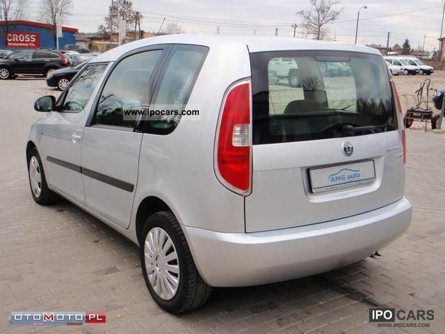 2008 skoda roomster 1 9 tdi style car photo and specs. Black Bedroom Furniture Sets. Home Design Ideas