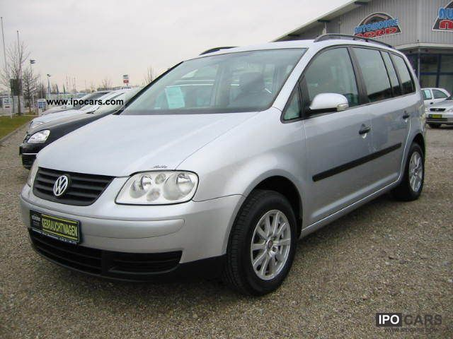 2004 volkswagen touran 1 6 trendline air gas 0 1 hand car photo and specs. Black Bedroom Furniture Sets. Home Design Ideas
