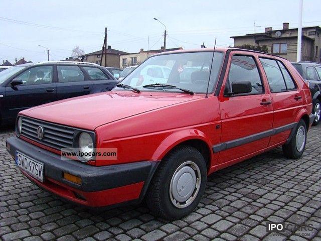 1991 Volkswagen Golf Ii Car Photo And Specs