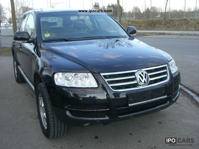 2004 volkswagen touareg 2 5 r5 tdi automatic leather ahk 1 hand car photo and specs. Black Bedroom Furniture Sets. Home Design Ideas