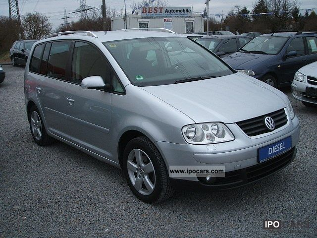 2005 volkswagen touran 2 0 tdi highline model 2006 4 car photo and specs. Black Bedroom Furniture Sets. Home Design Ideas