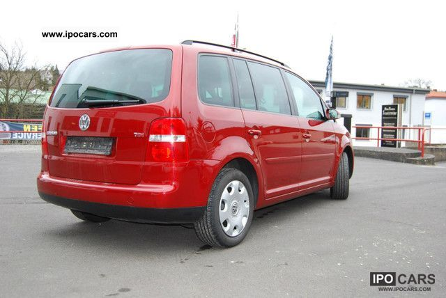 2004 volkswagen touran 2 0 tdi trendline car photo and specs. Black Bedroom Furniture Sets. Home Design Ideas