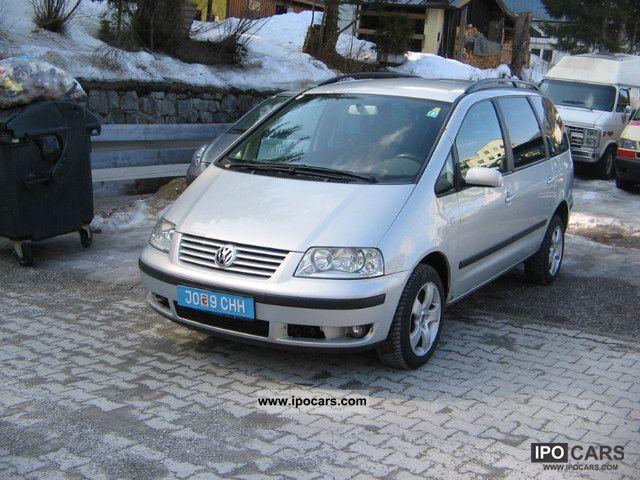 2002 volkswagen sharan 1 9 tdi 4motion comfortline car photo and specs. Black Bedroom Furniture Sets. Home Design Ideas