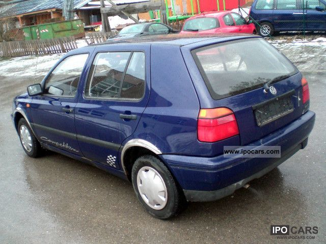 1996 volkswagen golf 3 cl 5 gang euro 2 servo car photo and specs. Black Bedroom Furniture Sets. Home Design Ideas