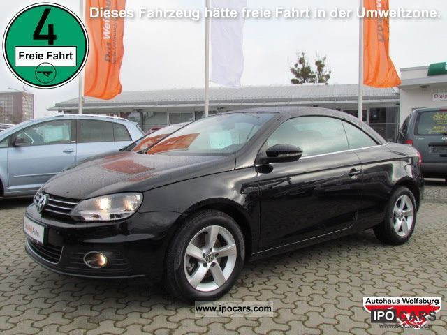 2011 volkswagen eos 2 0 tdi dpf navi climate pdc car photo and specs