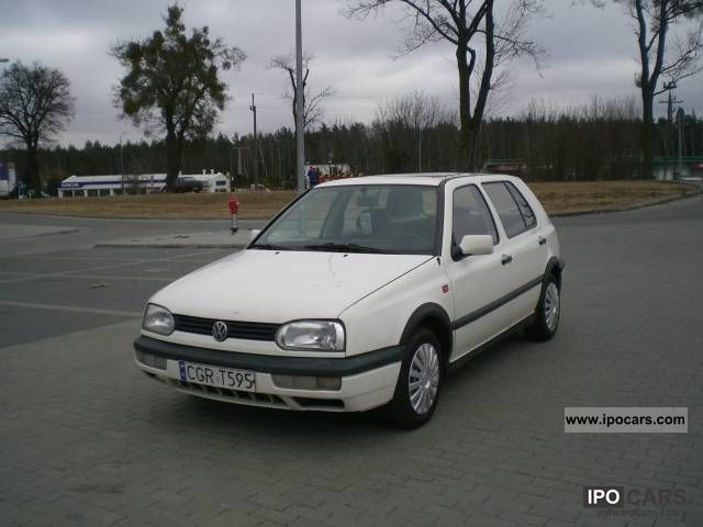 1993 volkswagen golf 1 9 turbo diesel 4 5 drzwi car photo and specs. Black Bedroom Furniture Sets. Home Design Ideas