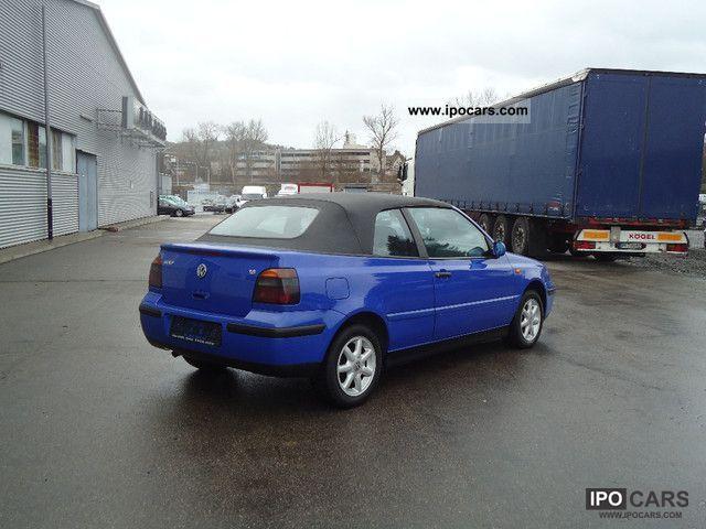 1998 Volkswagen Golf Cabrio 16 Trendline Hand Out 1 Alu Car Photo