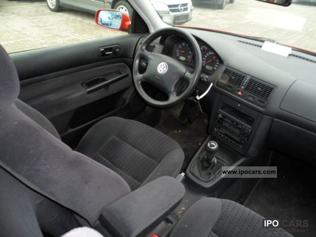 1998 volkswagen golf iv 1 6 comfortline car photo and specs. Black Bedroom Furniture Sets. Home Design Ideas