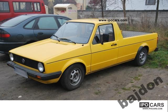 1989 Volkswagen MK1 Caddy 20 16v ABF  Car Photo and Specs