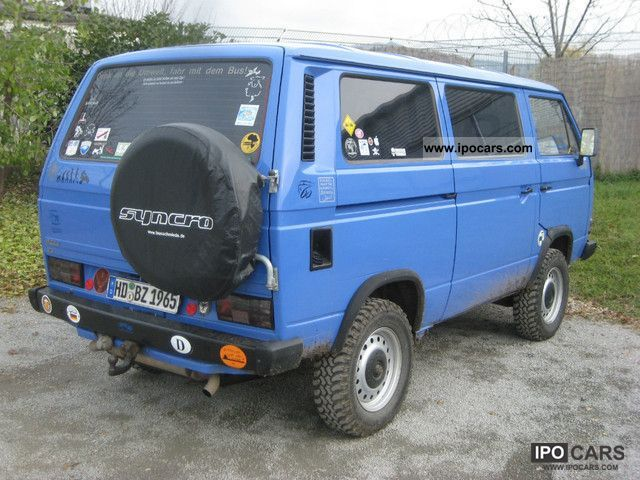 1988 Volkswagen T3 Multivan Syncro 16 Car Photo And Specs