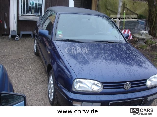 1996 volkswagen golf cabrio 1 8 bon jovi very good condition car photo and specs. Black Bedroom Furniture Sets. Home Design Ideas