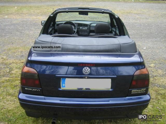 1996 volkswagen golf cabrio 1 8 bon jovi car photo and specs. Black Bedroom Furniture Sets. Home Design Ideas