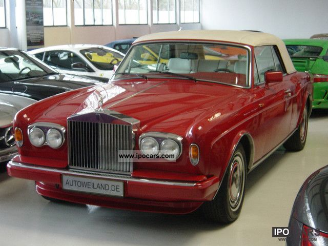 1991 Rolls Royce  Corniche 3 Convertible Cabrio / roadster Used vehicle photo