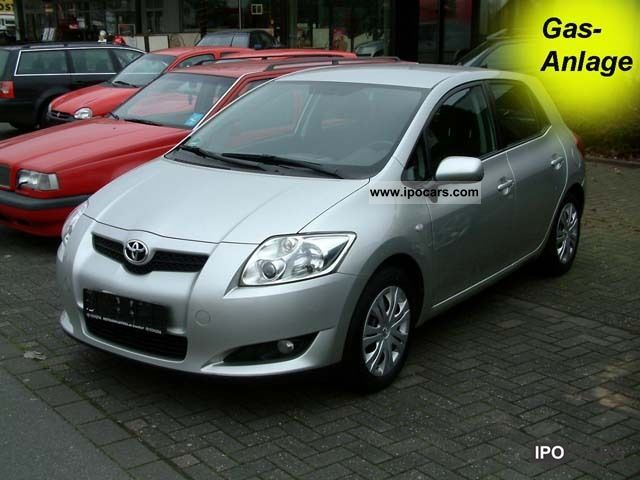 Toyota  Auris 1.4 VVT-i, new TUV, including Prins gas plant 2007 Liquefied Petroleum Gas Cars (LPG, GPL, propane) photo