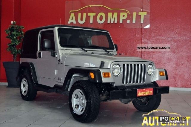 Jeep  Wrangler SPORT 2.4 HARD TOP 4X4 ABS RIDOTTE PEDA 2006 Liquefied Petroleum Gas Cars (LPG, GPL, propane) photo