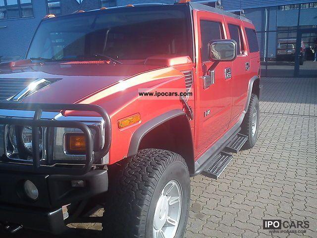 Hummer  Carfax H2 Sunset Orange flex sunroof TÜV 2003 Ethanol (Flex Fuel FFV, E85) Cars photo