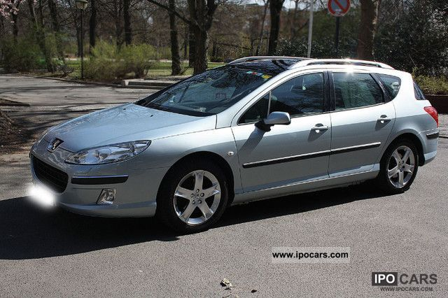2005 peugeot 407 sw hdi 135 xenon platinum / leather / navi - car