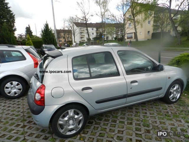 2001 renault clio 1 6 16v 4t rig climate model 2002 car photo and specs. Black Bedroom Furniture Sets. Home Design Ideas
