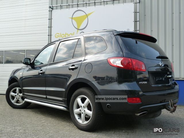2007 hyundai santa fe 2 7 v6 4wd auto gas leather navi chrome car photo and specs. Black Bedroom Furniture Sets. Home Design Ideas