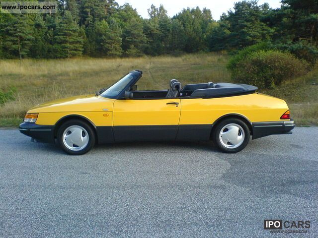 1992 Saab 900 Turbo Cabriolet 16 Car Photo And Specs