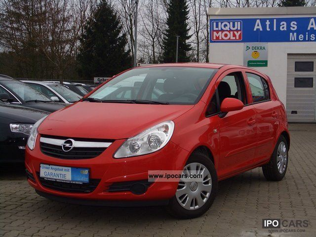 2008 opel corsa 1 2 twinport edition air 5 t rig car photo and specs. Black Bedroom Furniture Sets. Home Design Ideas