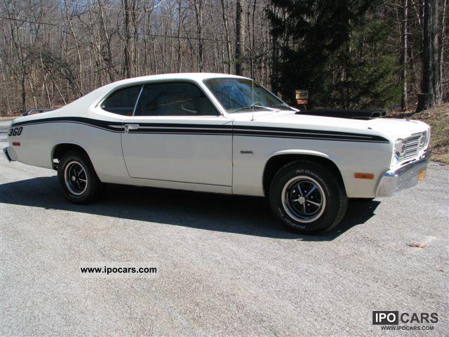 1974 Plymouth Duster 360 ci V8, Go-Wing, Hood Scoop, Mopar! Sports car ...
