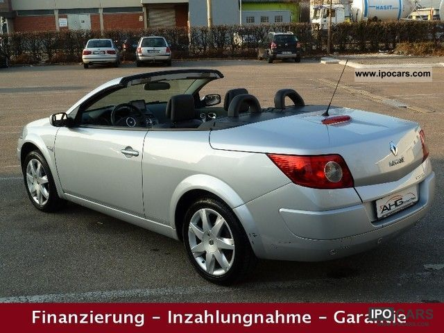 2007 renault megane 1 6 cabriolet leather panoramic naviplus pdc car photo and specs. Black Bedroom Furniture Sets. Home Design Ideas