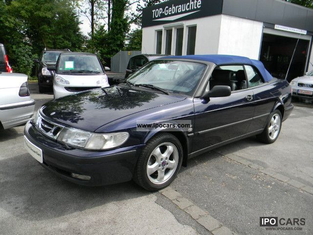 1999 saab 9 3 se convertible 2 0t automatic car photo and specs. Black Bedroom Furniture Sets. Home Design Ideas