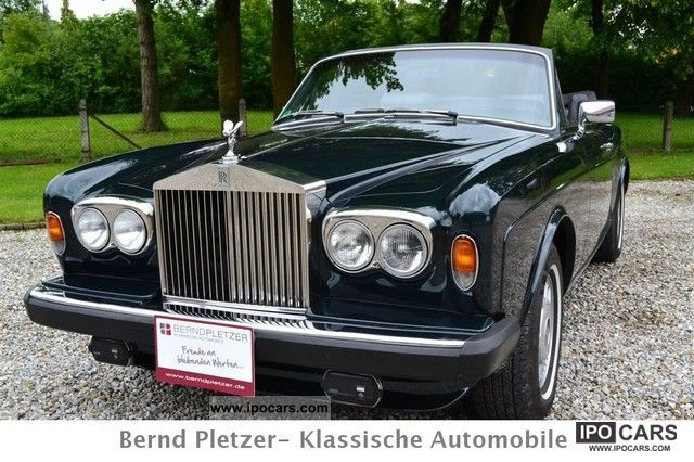1982 Rolls Royce  Corniche convertible, H-Marking of., Excellent condition 2 + Cabrio / roadster Classic Vehicle photo